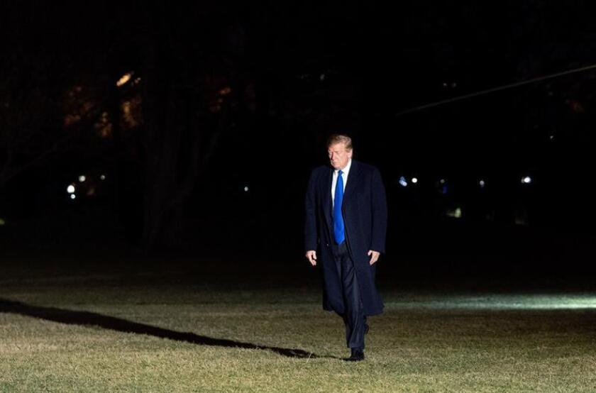 US President Donald J. Trump returns to the White house after his meeting with the North Korean leader Kim Jong-un in Vietnam, photo taken on Feb. 28, 2019 in Washington DC. EPA- EFE/ Chris Kleponis / Pool