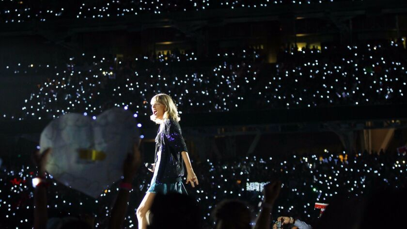Cell phones were out in force when Taylor Swift performed at Petco Park in 2015.