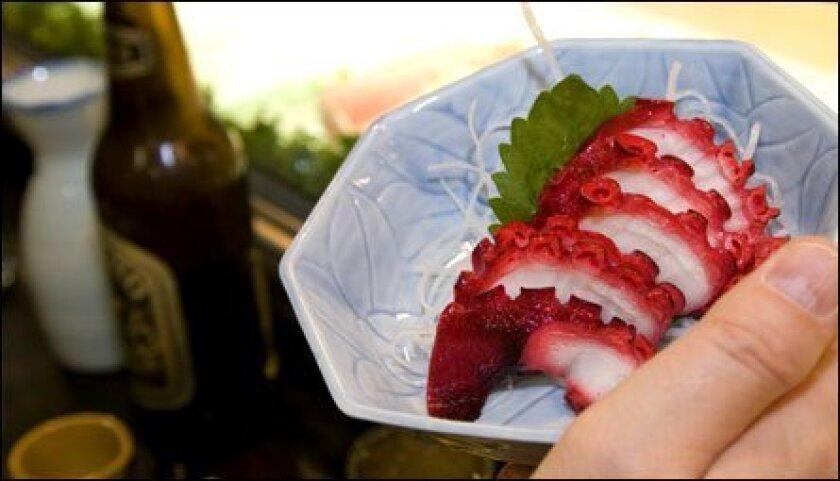 A tasty sea treat at Kaito Sushi.