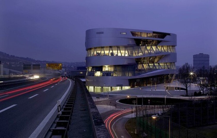 IN FAST COMPANY: Mercedes-Benz's new museum is built on nine floors in a double helix design, top