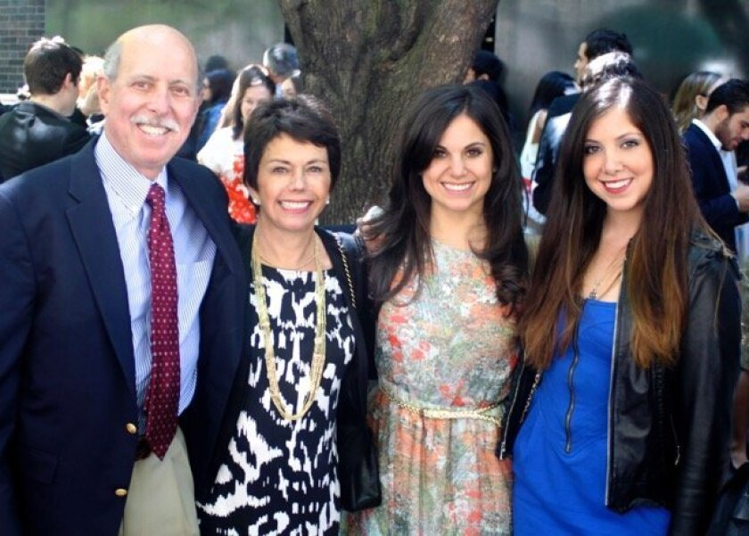 The late Paul Haydu with his wife, Lee, and their two daughters.