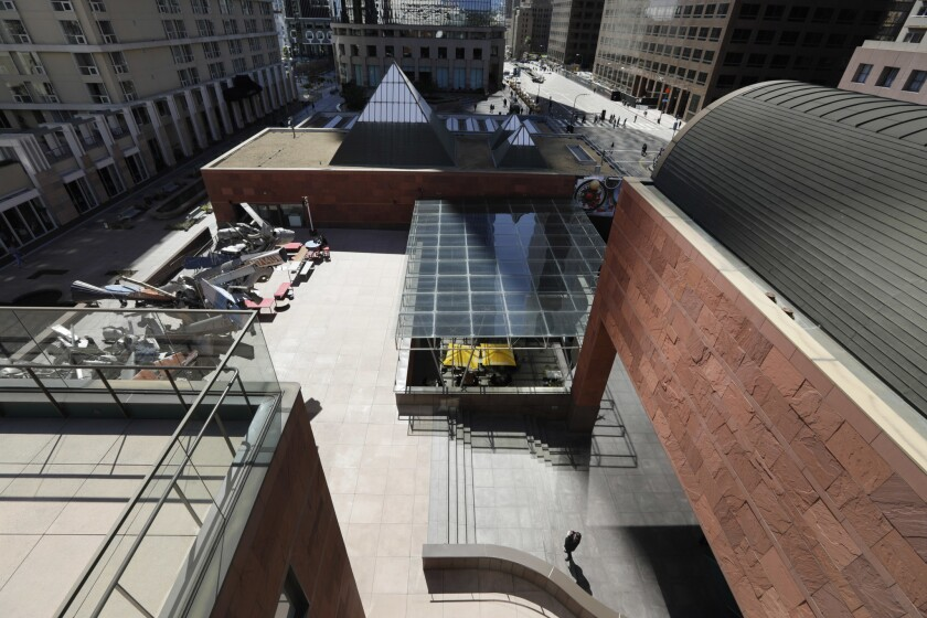 LOS ANGELES, CA - March 8, 2019: The MOCA Grand in downtown Los Angeles. The 2019 Pritzker Architect