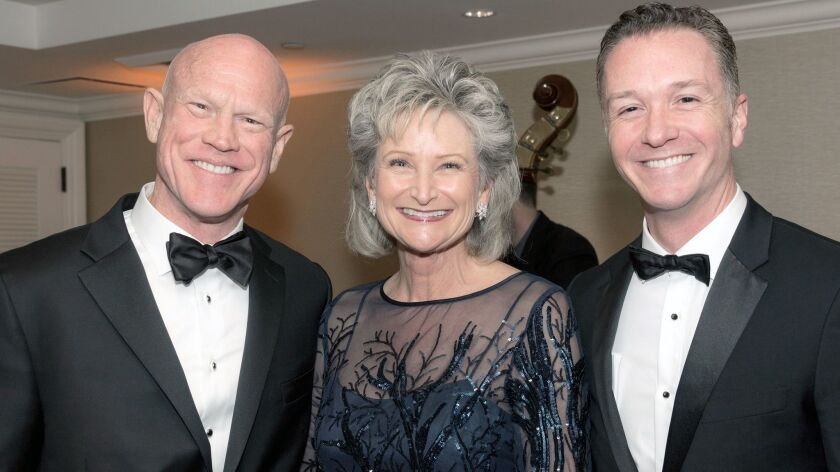 Gala co-chairs, Robert and Virginia Naeve of Laguna Hills and Joshua Grill. (Courtesy of Stan Sholik