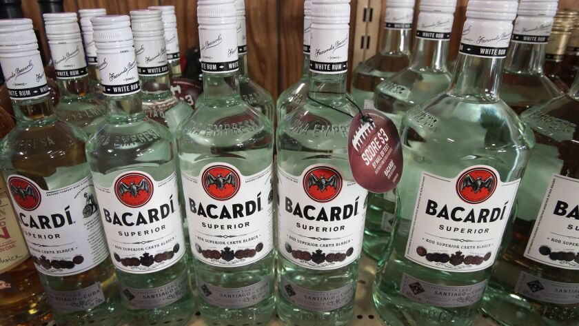 Bacardi is part of a nonprofit, funded by the alcohol industry, that is backing a bill to speed the commercialization of self-driving vehicles.