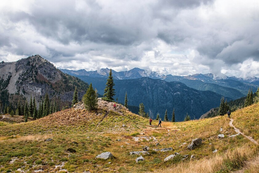 A day with long-haul hikers on the Pacific Crest Trail