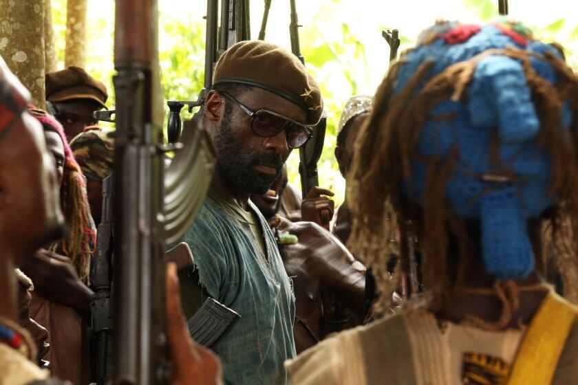 "Idris Elba in ""Beasts of No Nation,"" directed by Cary Fukunaga."