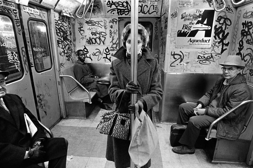 """""""CC Train,"""" 1985, by Richard Sandler, at 515 Gallery"""