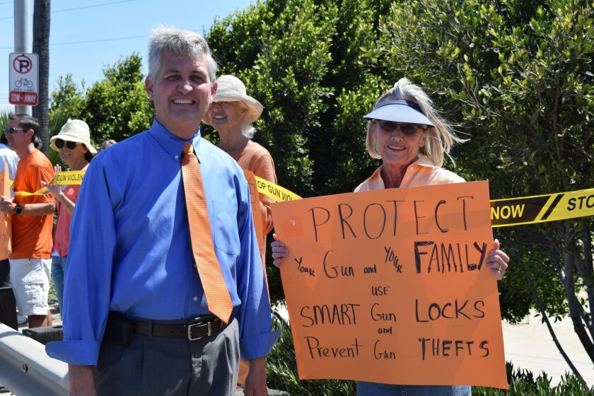 San Diego County Supervisor Dave Roberts and Solana Beach resident Marilee McLean