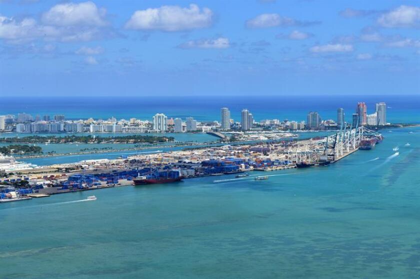 La compañía turística se propone construir a partir de 2019 una terminal en el Puerto de Miami para su división de cruceros Virgin Voyages, que ha anunciado que sus barcos harán escala en Cuba a partir de 2020. EFE/Archivo