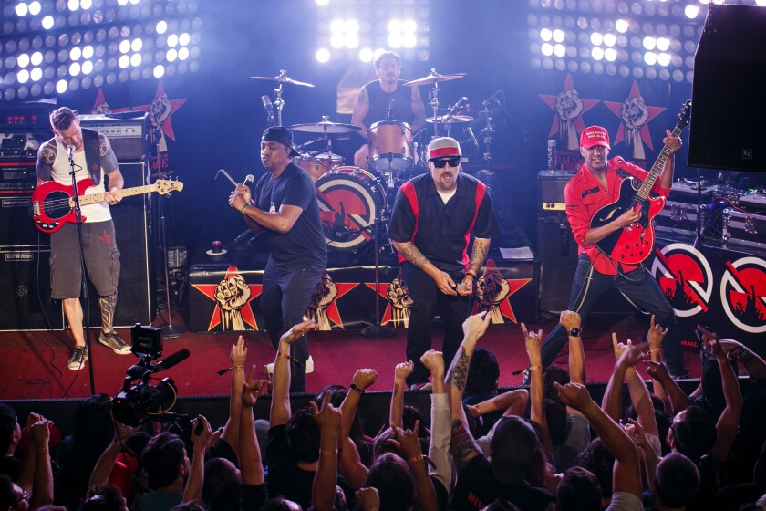 """Prophets of Rage has announced an """"Anti-Inaugural Ball"""" for Friday at Teragram Ballroom."""