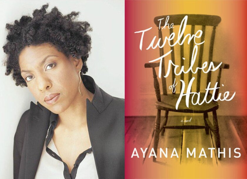 Author Ayana Mathis and the cover of 'The Twelve Tribes of Hattie'.
