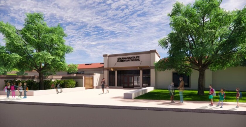 A rendering for the new front of Solana Santa Fe.