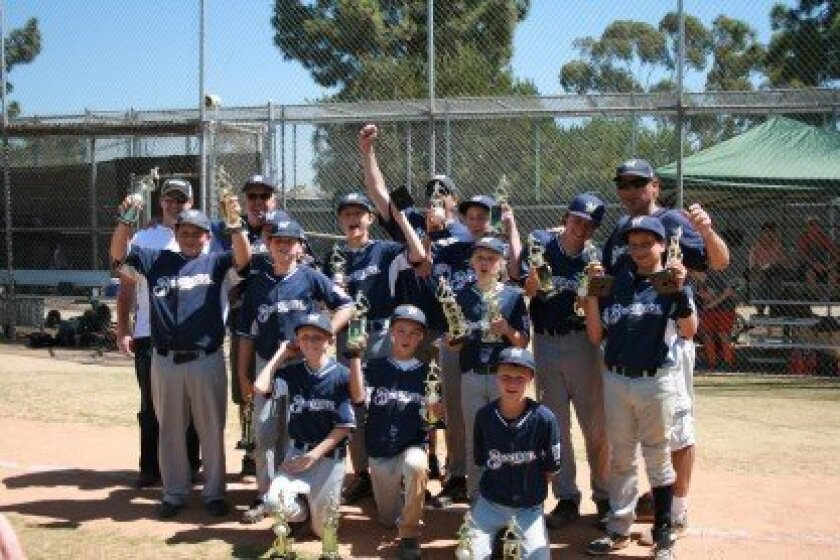 Pictured above are the SB Little League Majors Division Champion Brewers, sponsored by Baum Orthodontics. Courtesy photo