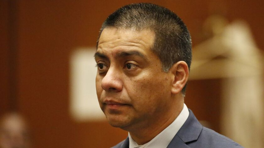 Attorneys for L.A. school board member Ref Rodriguez on Monday successfully argued for more time to prepare their defense against political money-laundering charges. Rodriguez is shown here during a previous court appearance.