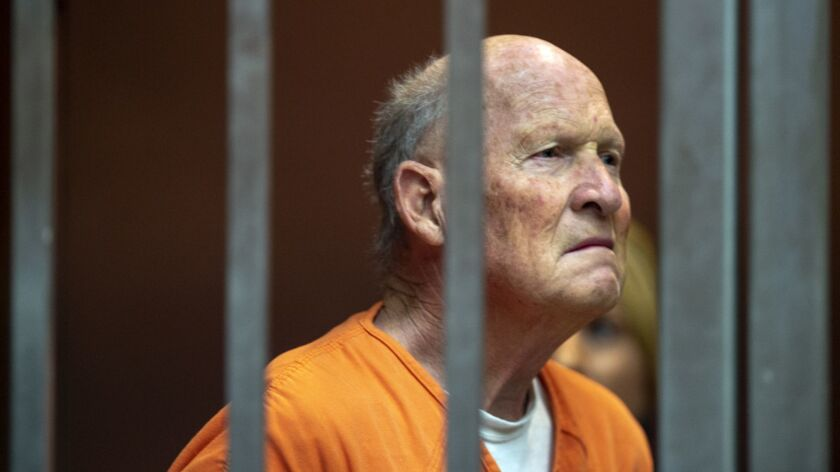 Joseph James DeAngelo, the accused Golden State Killer, in a Sacramento courtroom on June 1.