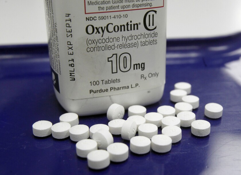 OxyContin pills at a pharmacy in Montpelier, Vt.