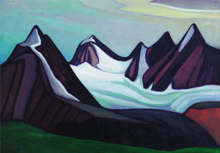 """A detail of the Lawren Harris painting """"Mountain and Glacier."""""""