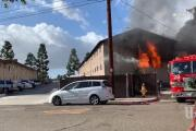 Two-alarm fire chars apartments in Serra Mesa