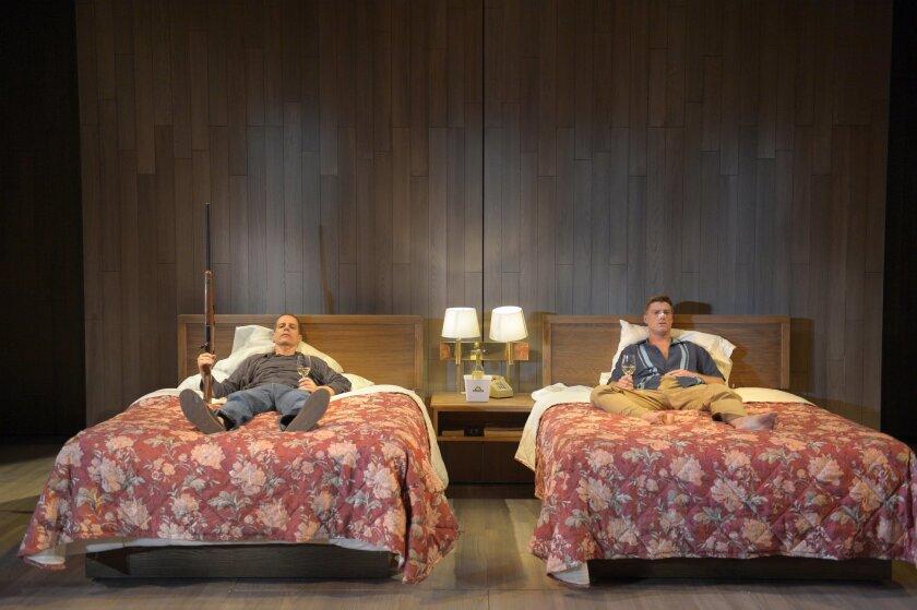 "Patrick Breen as Miles and Sean Allan Krill as Jack in La Jolla Playhouse's ""Sideways."""