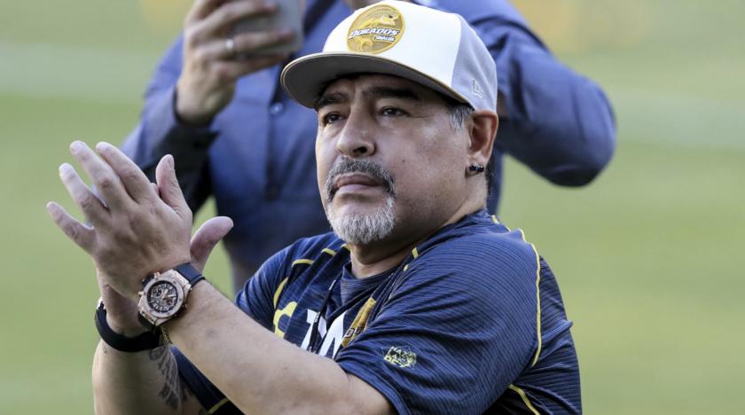 Diego Armando Maradona actualmente es entrenador de los Dorados de Sinaloa, en la Segunda División de México.