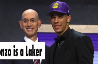 The Lakers select Lonzo Ball with the No. 2 pick in the NBA Draft