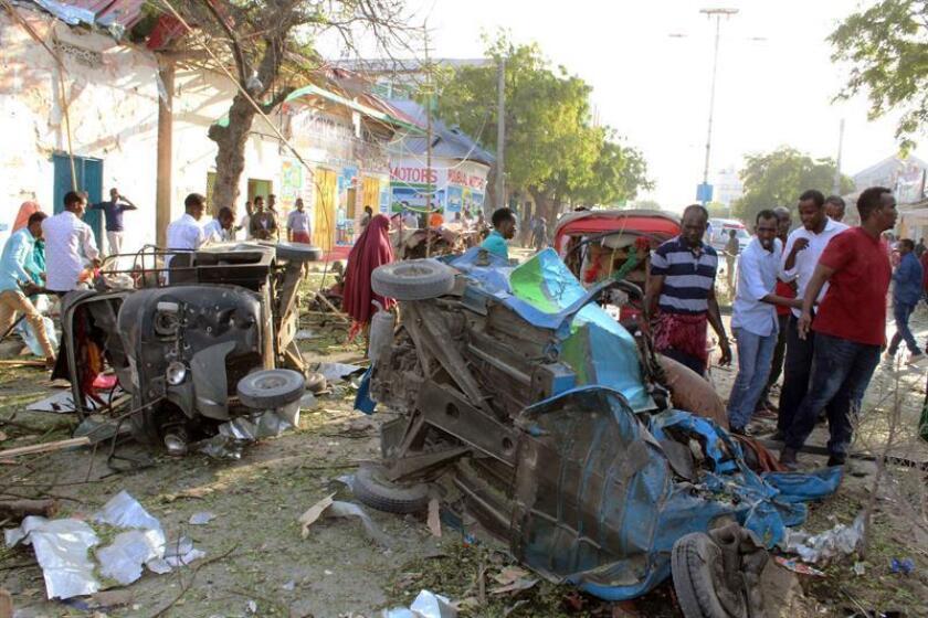 Un soldado de las fuerzas especiales murió y otros cuatro resultaron heridos durante un ataque del grupo Al Shabab, que tuvo lugar a unos 350 kilómetros al sur de la capital de Somalia, Mogadiscio, informó hoy el mando militar para África (Africom). EFE/ARCHIVO