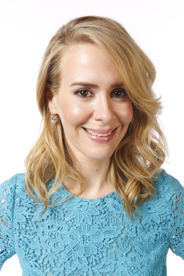Sarah Paulson, nominated for outstanding supporting actress in a miniseries or movie, at the L.A. Times photo booth at the 65th Annual Primetime Emmy Awards actors dinner on Friday.