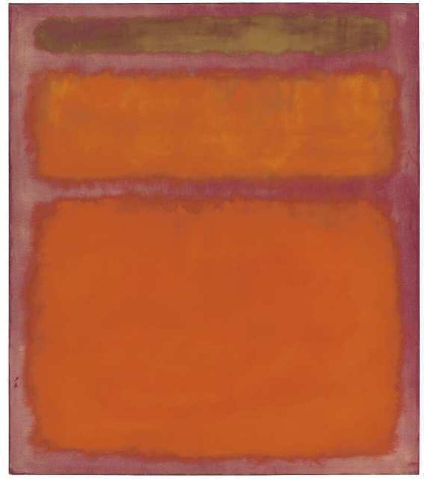 "Mark Rothko's 1961 painting ""Orange, Red, Yellow"" sold for $86.9 million at an auction of items from the estate of David Pincus."