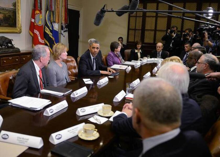 President Obama and health insurance executives meet at White House
