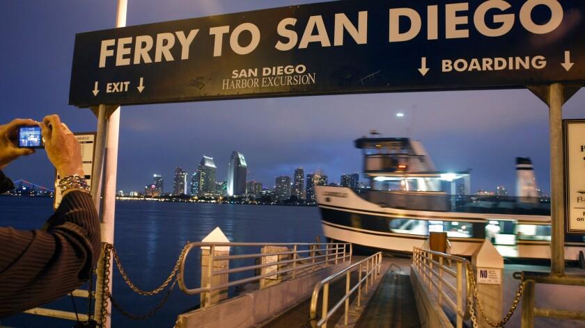 San Diego skyline from Coronado.