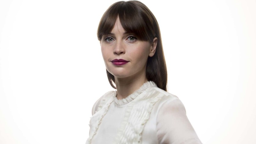 "Felicity Jones of ""Rogue One: A Star Wars Story."""