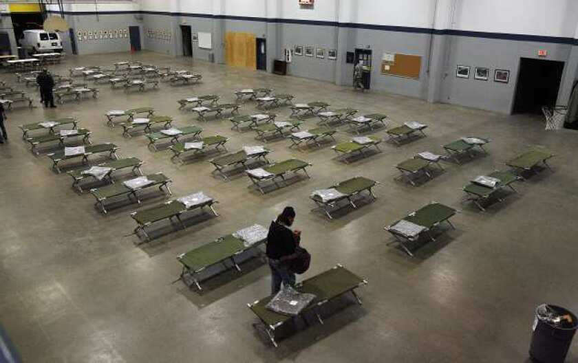 L.A. County homeless shelter beds
