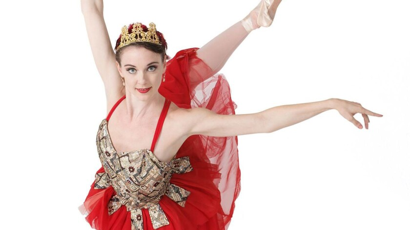 "Stephanie Maiorano in San Diego Ballet's production of ""Firebird."""