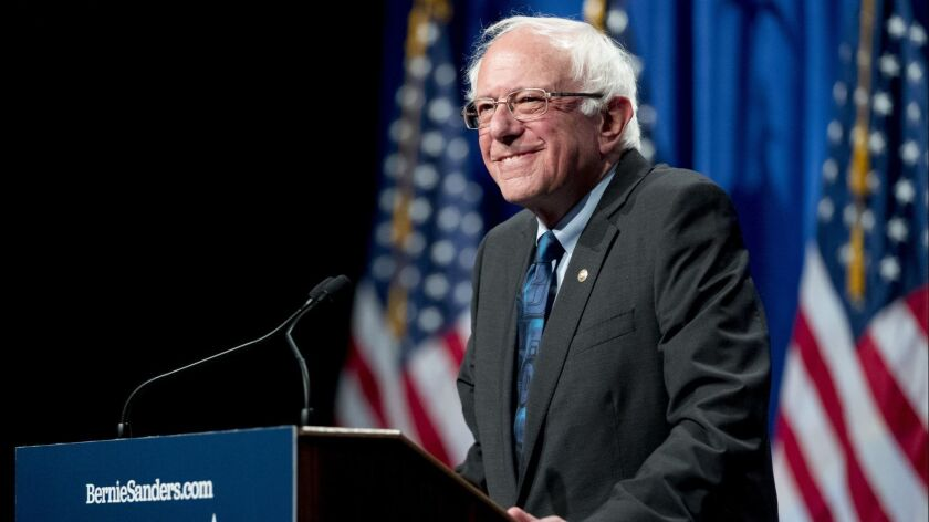 "Bernie Sanders visited ""Jimmy Kimmel Live"" on Thursday night."