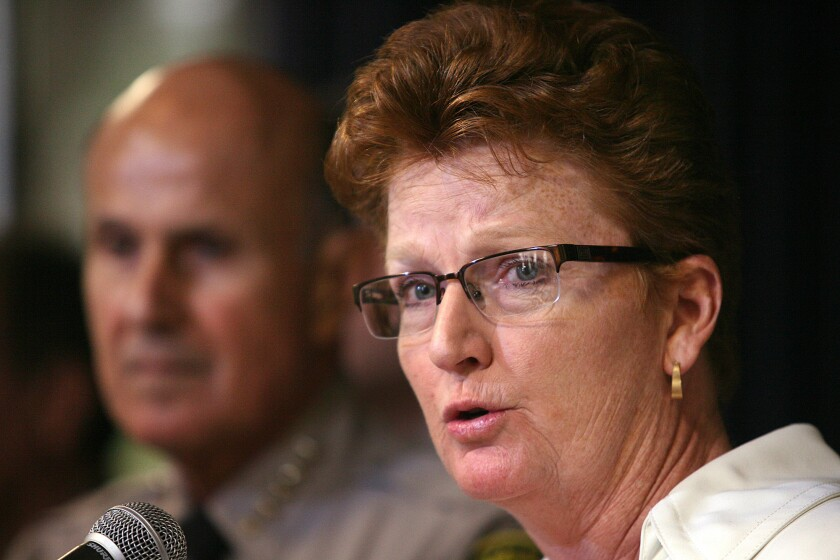 Assistant Los Angeles County Sheriff Terri McDonald oversees the nation's largest jail system, which is now beginning to see a drop in population and increase in time served by inmates as a result of Proposition 47.