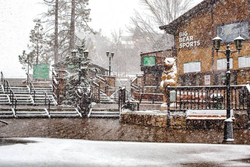 Late snow at Big Bear Lake