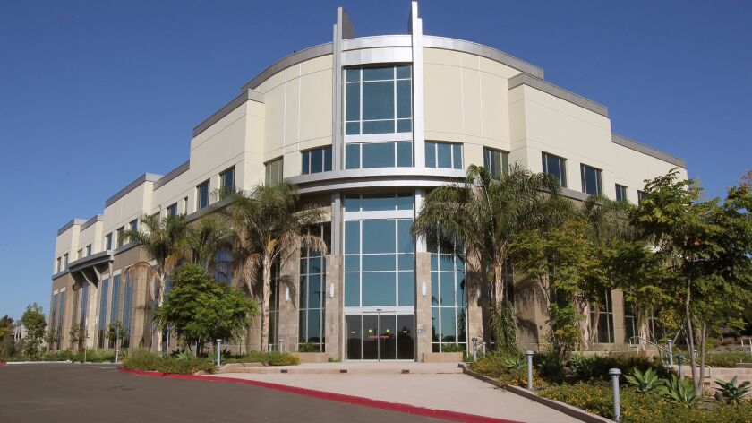 This three-story medical office building on the Oceanside campus of Tri-City Medical Center has been empty since its completion in 2013 due to lawsuits and a disagreement over its value.