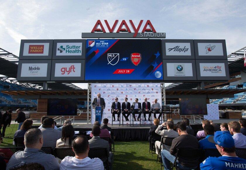 La MLS y el Arsenal anunciaron el Juego de las Estrellas en San José.