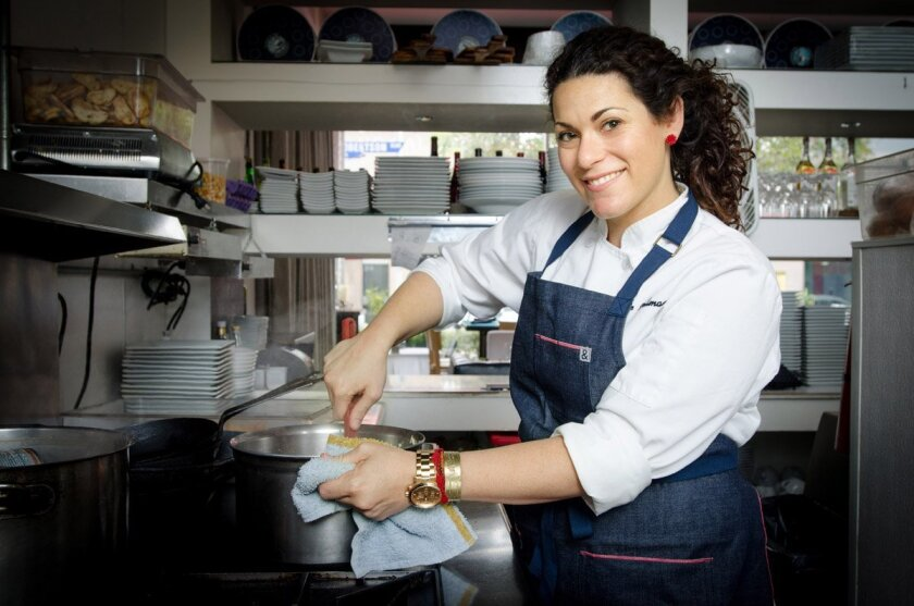Giselle Wellman, 32, the executive chef at newly opened Pacific Standard - Coastal Kitchen in Little Italy.