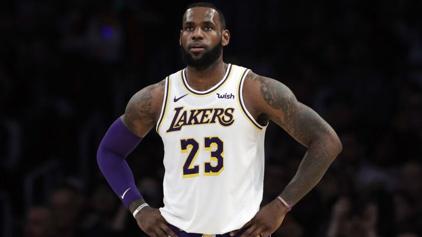 best service 89c11 94631 LeBron James cleared to practice for Lakers - Los Angeles Times