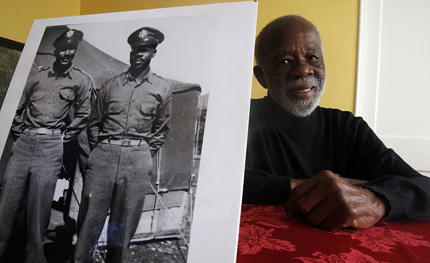 Los Angeles resident Ted Lumpkin Jr. was an intelligence officer with the Tuskegee Airmen of World War II.