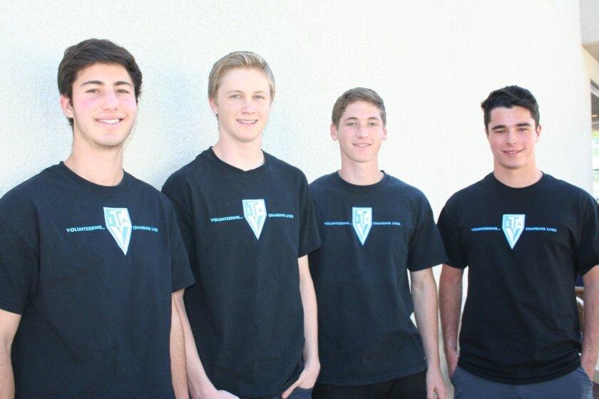 Danny Goldberg, Jacob Burgess, Matt Hadley and Blake Arnold.