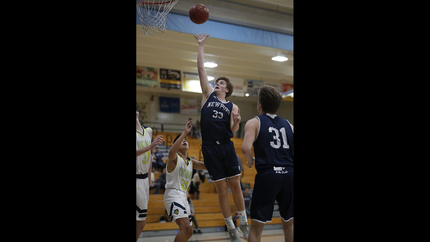 Photo Gallery: Newport Harbor vs. Marina in boys' basketball