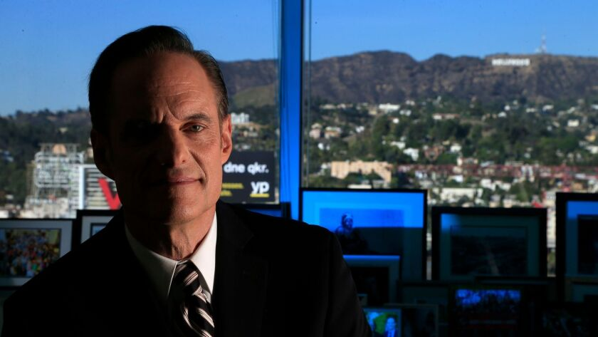 Michael Weinstein is the controversial leader of the AIDS Healthcare Foundation in his 21st floor office in Hollywood on November 14, 2013.