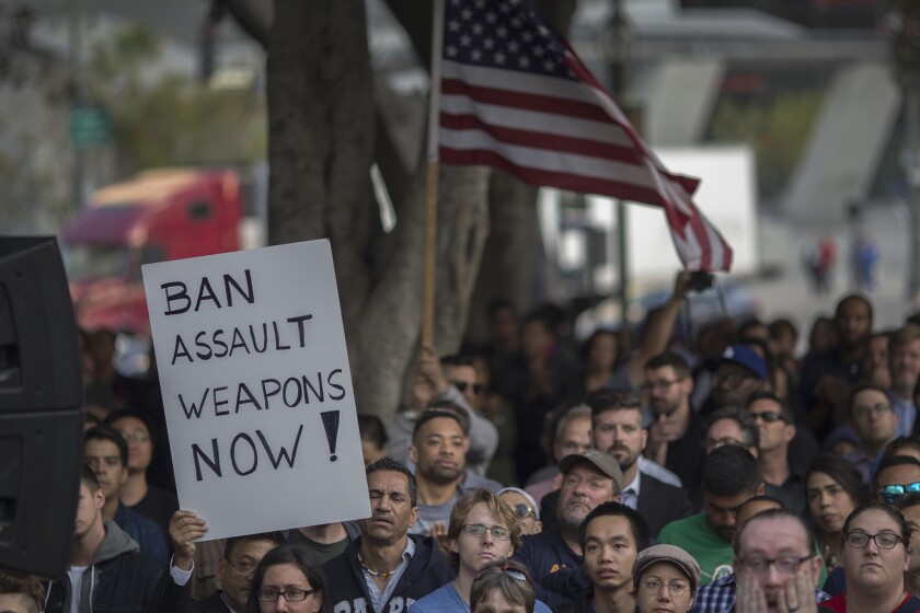 A vigil for the Orlando, Fla., nightclub shooting victims in L.A. On Monday, June 20, 2016, the Supreme Court dismissed challenges from gun-rights advocates in Connecticut and New York who contended state bans violated their 2nd Amendment rights.