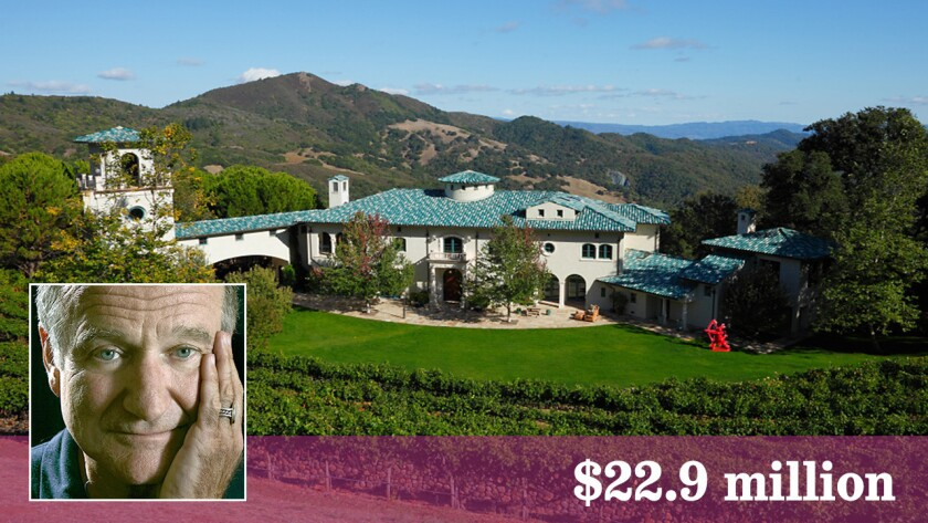 The asking price of the Napa estate of the late comic Robin Williams has been reduced by $3 million.
