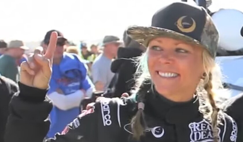 Jessi Combs in an image from video.