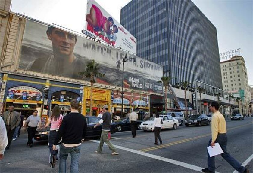 A view of Hollywood Boulevard in 2008.