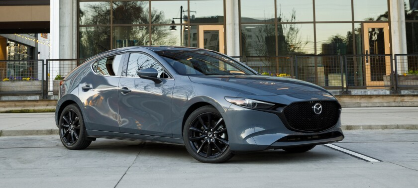 The Mazda3 hatchback is sold three trim levels with starting prices of $24,520-$28,420. All-wheel drive adds $1,400 to any model.