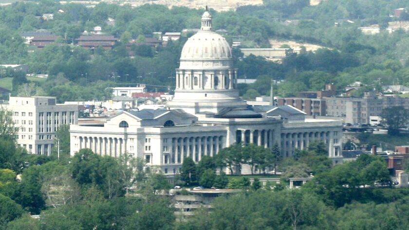 FILE--In this May 11, 2007, file photo the Missouri State Capitol is seen on the banks of the Missou